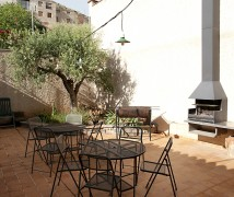 Patio with barbecue